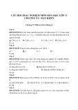 Câu hỏi trắc nghiệm môn Hóa học lớp 11 chương VI – Ban KHTN