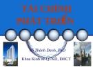 Bài giảng Tài chính phát triển - Võ Thành Danh, PhD