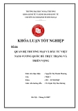 Khóa luận tốt nghiệp: Quan hệ thương mại và đầu tư Việt Nam - Vương quốc Bỉ: thực trạng và triển vọng