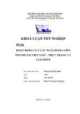Khóa luận tốt nghiệp: Hoạt động của các ngân hàng liên doanh tại Việt Nam – thực trạng và giải pháp
