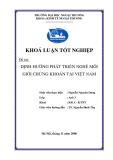 Khóa luận tốt nghiệp: Định hướng phát triển nghề môi giới chứng khoán tại Việt Nam