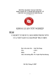 Khóa luận tốt nghiệp: Cam kết về dịch vụ bảo hiểm trong WTO của Việt Nam và giải pháp thực hiện