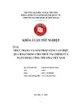 Khóa luận tốt nghiệp: Thực trạng và giải pháp nâng cao hiệu quả hoạt động cho thuê tài chính của Ngân hàng Công thương Việt Nam