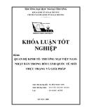 Khóa luận tốt nghiệp: Quan hệ kinh tế - thương mại Việt Nam - Nhật Bản trong bối cảnh quốc tế. Thực trạng và giải pháp