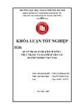 Khóa luận tốt nghiệp: Quản trị quan hệ khách hàng - thực trạng và giải pháp cho các doanh nghiệp Việt Nam