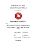 Khóa luận tốt nghiệp: Phân tích hoạt động sản xuất kinh doanh của công ty cổ phần xuất nhập khẩu thủy sản An Giang
