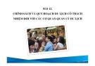 Bài giảng Du lịch có trách nhiệm: Bài 12