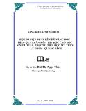 SKKN: Một số biện pháp rèn kỹ năng đọc  -  hiểu qua phân môn Tập đọc cho học sinh lớp 5A, trường Tiểu học Mỹ Thủy - Lệ Thủy - Quảng Bình