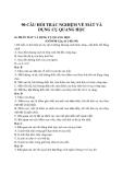 90 câu hỏi trắc nghiệm về Mắt và Dụng cụ quang học