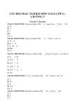 Câu hỏi trắc nghiệm môn Toán lớp 11 - Chương V