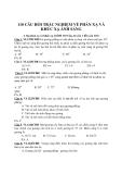 110 câu hỏi trắc nghiệm về Phản xạ và Khúc xạ ánh sáng