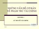 Bài giảng Lý thuyết tài chính tiền tệ: Chương 1 - ĐH Kinh tế