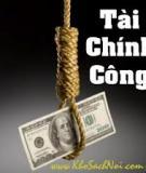 Bài thảo luận: Thực trạng vai trò điều tiết vĩ mô của tài chính công tại Việt Nam trong thời gian qua