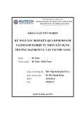 Khóa luận tốt nghiệp: Kế toán xác định kết quả kinh doanh tại Doanh nghiệp Tư nhân Xây dựng Thương mại Dịch vụ Vận tải Thu Sang