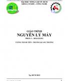 Bài giảng Nguyên lý máy: Phần 2 - Vương Thành Tiên, Trương Quang Trường