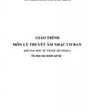 Giáo trình môn Lý thuyết âm nhạc cơ bản: Phần 1  - TS. Trịnh Hoài Thu (chủ biên)