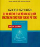 Tài liệu tập huấn Giảng dạy môn Toán bằng tiếng Anh trong trường trung học phổ thông