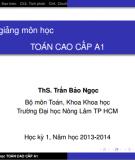 Bài giảng môn học Toán cao cấp A1 - ThS. Trần Bảo Ngọc