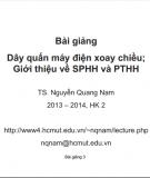 Bài giảng Dây quấn máy điện xoay chiều: Giới thiệu về SPHH và PTHH - TS. Nguyễn Quang Nam