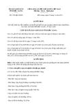 Quyết định 1705/QĐ-UBND năm 2013
