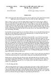 Thông báo 425/TB-VPCP năm 2013