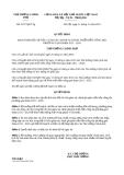 Quyết định 2157/QĐ-TTg năm 2013