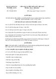 Quyết định 1704/QĐ-UBND năm 2013