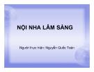 Bài giảng Nội nha lâm sàng - Nguyễn Quốc Toản
