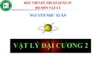 Bài giảng Vật lý đại cương 2: Chương 9 - GV. Nguyễn Như Xuân