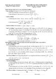 Đề kiểm tra chất lượng môn Toán khối A lớp 12 - THPT Chuyên Lam Sơn