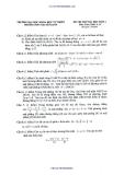 Đề thi thử ĐH môn Toán đợt 4 - THPT Chuyên KHTN