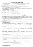 Đề thi khảo sát chất lượng môn Toán lớp 12 - THPT Chuyên ĐH Vinh