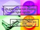 Bài giảng Sức khỏe và an toàn nghề nghiệp: Bài 3 - ThS. Nguyễn Thúy Quỳnh