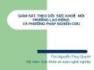 Bài giảng Sức khỏe và an toàn nghề nghiệp: Bài 5 - ThS. Nguyễn Thúy Quỳnh