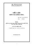 Tiểu luận Tài chính công: Kiểm soát chi tiêu công và quản lý Ngân sách Nhà nước ở Việt Nam - Thực trạng và giải pháp