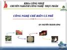 Bài giảng Công nghệ chế biến cà phê - GV. Nguyễn Thành Công