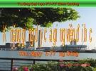 Bài giảng Kỹ năng giảng dạy của giảng viên Đại học - ThS. Nguyễn Tường Dũng
