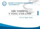 Bài giảng Hải Thượng Y Tông Tâm Lĩnh - Th.S. Lê Ngọc Thanh