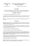Quyết định 2205/QĐ-TTg năm 2013