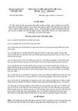 Quyết định 2014/QĐ-UBND năm 2013