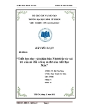 Bài tiểu luận: Triết học duy vật nhân bản Phoiơbắc và vai trò của nó đối với sự ra đời của triết học Mác