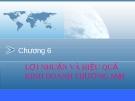 Bài giảng Phân tích hoạt động kinh doanh - Chương 6
