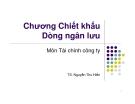 Bài giảng Tài chính công ty: Chương 4 - TS. Nguyễn Thu Hiền