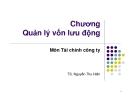 Bài giảng Tài chính công ty: Chương 11 - TS. Nguyễn Thu Hiền