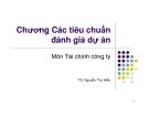 Bài giảng Tài chính công ty: Chương 7 - TS. Nguyễn Thu Hiền