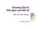 Bài giảng Tài chính công ty: Chương 3 - TS. Nguyễn Thu Hiền