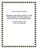 SKKN: Tìm hiểu nghệ thuật miêu tả tâm trạng nhân vật Thúy Kiều của Nguyễn Du qua hai đoạn trích: Mã Giám Sinh mua Kiều, Kiều ở lầu Ngưng Bích