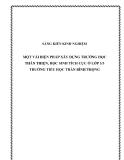 SKKN: Một vài biện pháp Xây dựng Trường học thân thiện, học sinh tích cực ở lớp 3/3 trường Tiểu học Trần Bình Trọng