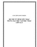 SKKN: Bộ thẻ từ hình nốt nhạc trong dạy học Tập đọc nhạc lớp 4 & 5