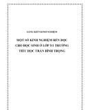 SKKN: Một số kinh nghiệm rèn đọc cho học sinh ở lớp 5/1 trường Tiểu học Trần Bình Trọng